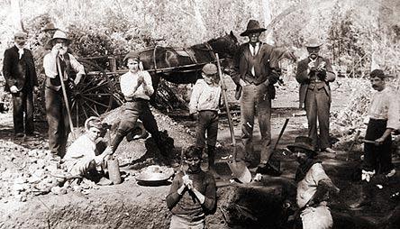 Kopacze w czasie australijskiej gorączki złota