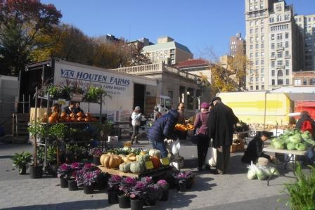 Dynie w wielkim mieście (bazar przy Union Square w Nowym Jorku).