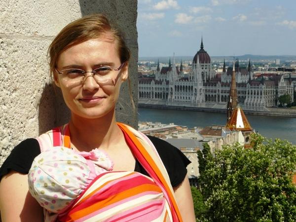 Z trzymiesięczną Hanią w Budapeszcie