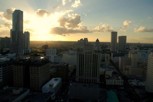 Miami, widok z okna hosta