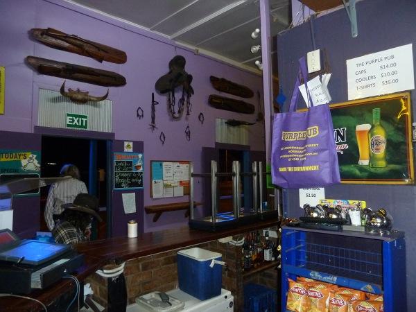 Purple Pub w środku