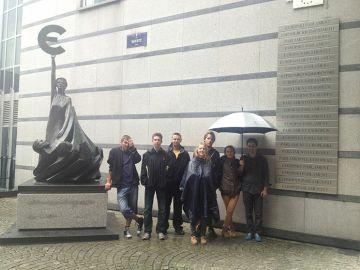 Przed Parlamentem Europejskim
