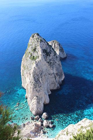 Skały w pobliżu Keri na wyspie Zakynthos
