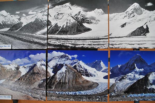 Everest od strony Tybetu, porównanie zdjęcia sprzed niemal stu lat z obecnym