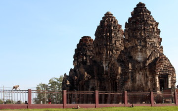 Małpy żyją w tych pięknych ruinach.