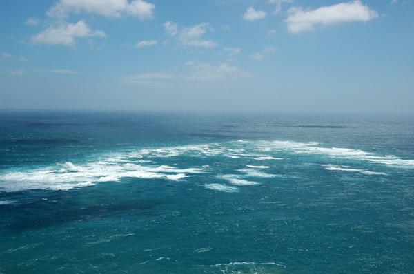 Spotkanie Morza Tasmana z Oceanem Spokojnym