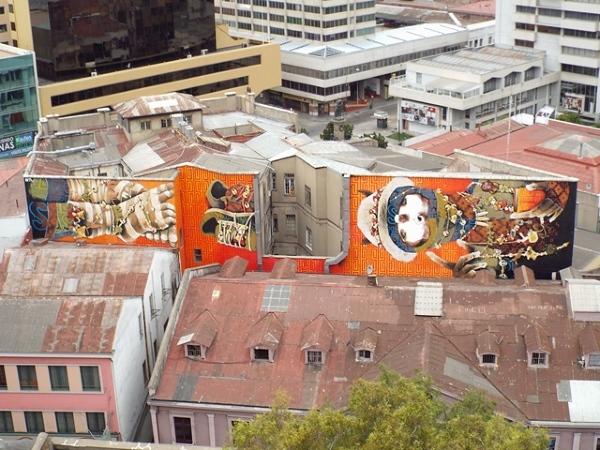 Valparaiso- miasto murali