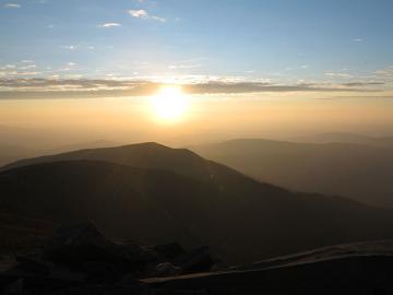 Zachód słońca na Babiej Górze, Beskid Żywiecki
