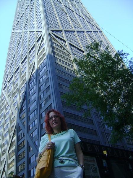 Wieża ciśnień, dojazd do Chicago,