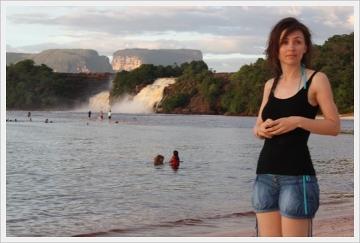Jeden z przepięknych wodospadów w Wenezueli