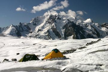 Obóz wysunięty - wysokość 4747 m. Kocioł lodowcowy Sath Marau
