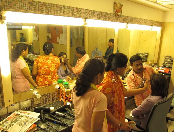 Przygotowania do jednej ze scen –Bollywood