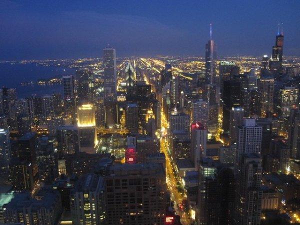 Chicago tuż po zmroku
