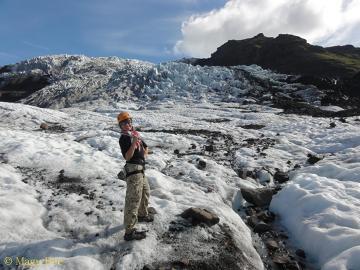 W końcu dotarłam na lodowiec, i to nie byle jaki - największy w Europie!Vatnajokull, Islandia.