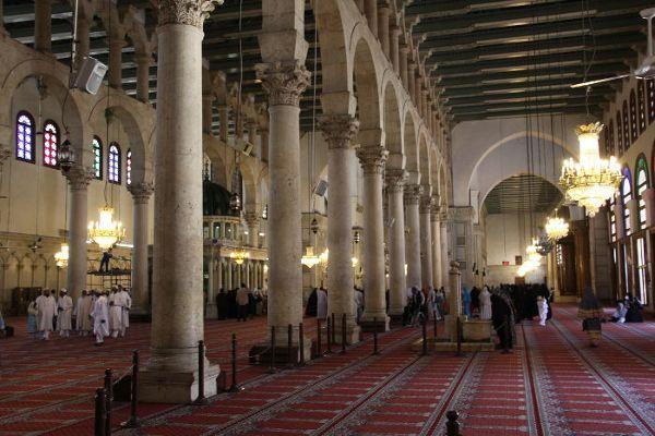 Sala modlitw. Meczetu Umajjadów, Damaszek