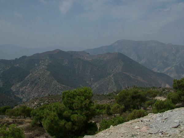 Typowy górski krajobraz Maroka