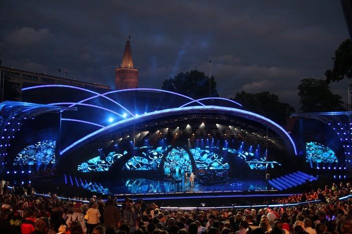 Amfiteatr Tysiąclecia w Opolu w czasie Krajowego Festiwalu Piosenki/ źródło: http://kfpp.bloog.p