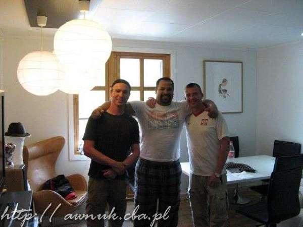 Z hostem Enrique w Tyssedal, Norwegia