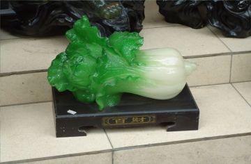Pomysł na pamiątkę z Wietnamu - kapusta pekińska z szlachetnego kamienia.