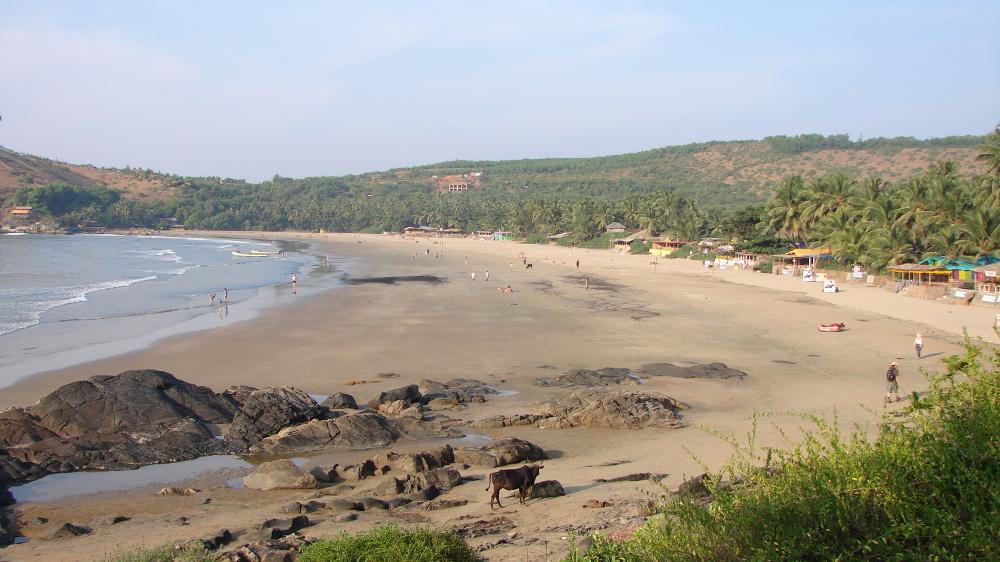 Pozytywne wibracje na plaży w Gokarnie