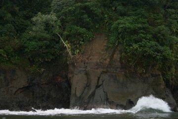 Klif w Santa Marta, zdjęcie z łódki