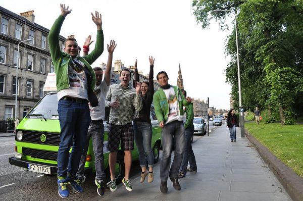 Edynburg, spotkanie z Marcinem, pochodzącym z Babimostu, czyli praktycznie krajana podróżujących busem zielonogórzan