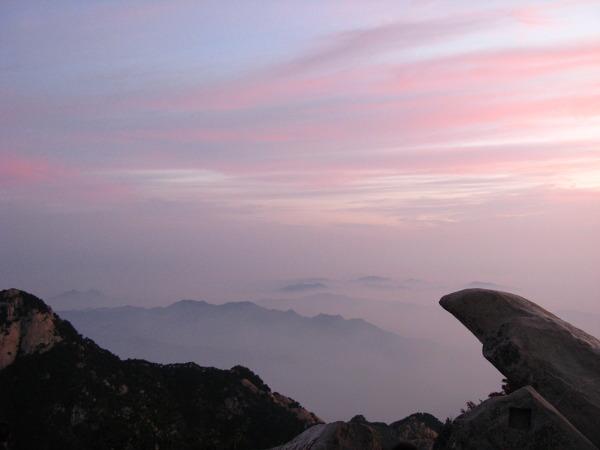 """""""Morze chmur"""" na szczycie Taishan"""