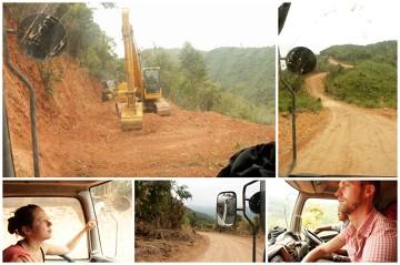 Tej drogi nie ma i jeszcze dość długo nie będzie na mapie./ Laos