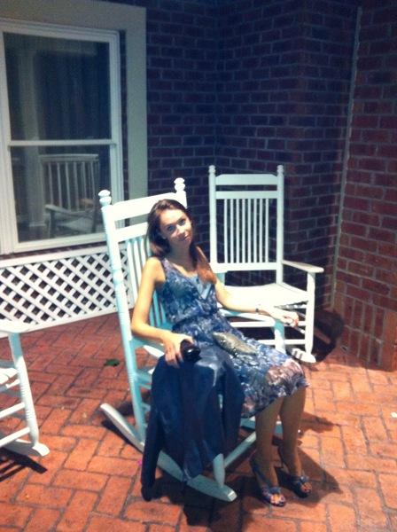typowy dla południa bujany fotel w Charleston, Karolina Południowa