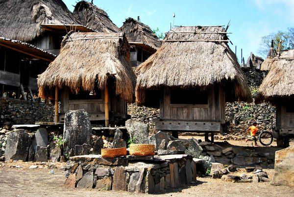 Flores - tradycyjna wioska Bajawa