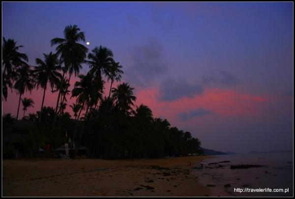 Zachód słońca na Wyspie Słonia