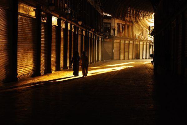 Damaszek, bazar o świcie