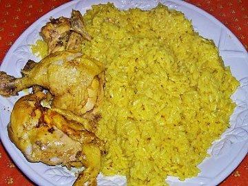 ryż z szafranem + kurczak