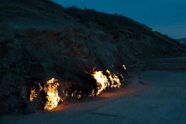 Yanar Dag - miejsce gdzie od wieków płonie ogień.