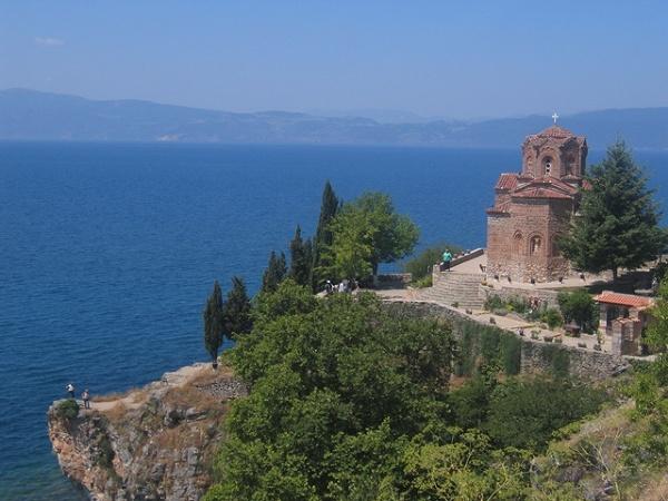 Ohryd z widokiem na Albanię