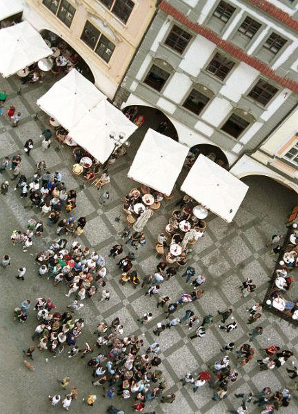 W Pradze nigdy nie brakuje turystów