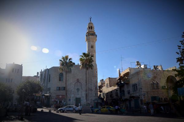 Palestyna: widok na główny plac w Beit Jala