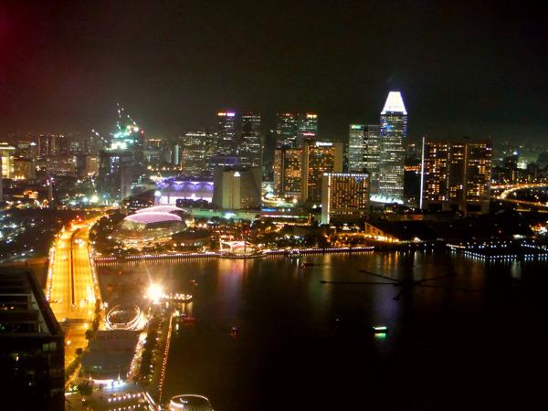 Widok z okna w Singapurze