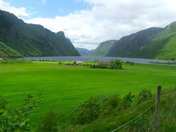 Zielona dolina Frafjord
