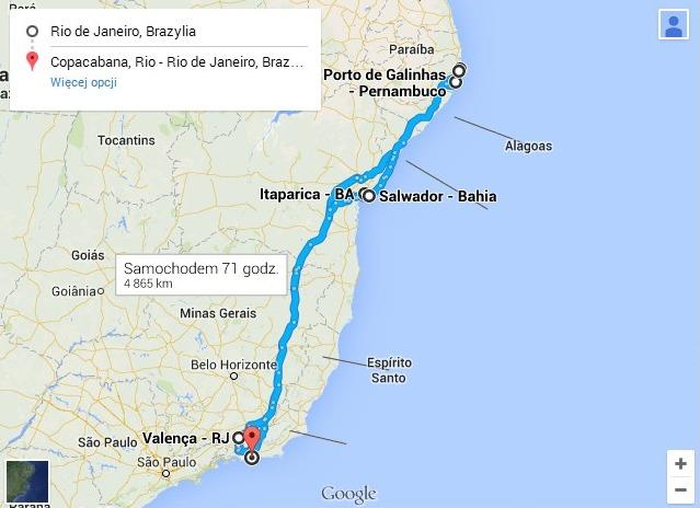 Wzdłuż wybrzeża Brazylii