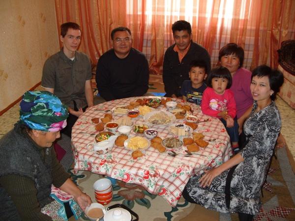 Przyjęcie u kazachskiej rodziny