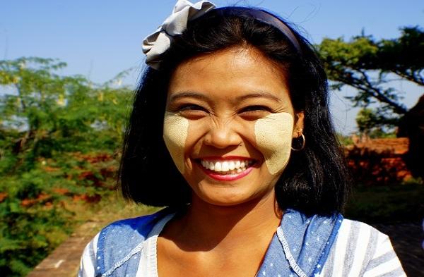 Tradycyjny makijaż Birma