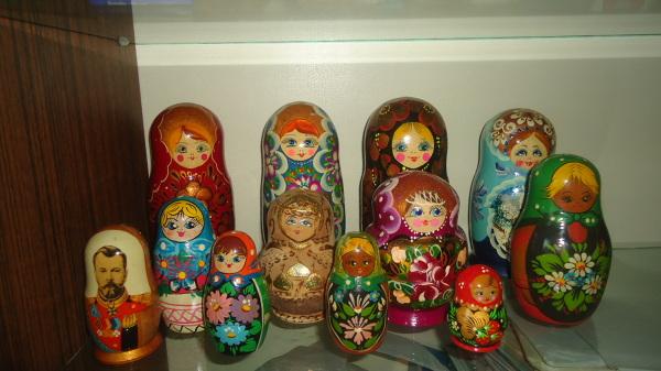 Kolekcja rosyjskich matrioszek