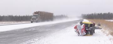 Rowerem zimą przez Kordyliery