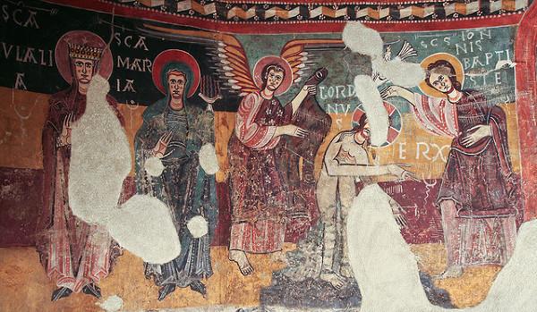 Freski z kościoła Santa Coloma.