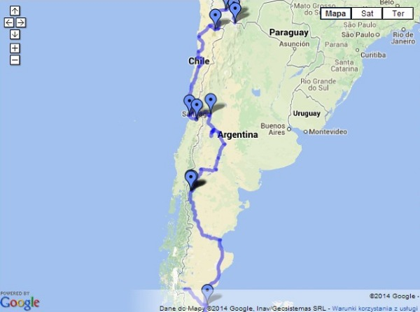 Plan podróży: Boliwia, Chile i Argentyna