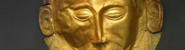 Maska Agamemnona, muzeum archeologiczne, Ateny.