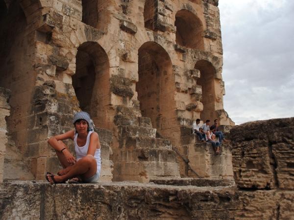 Kasia Stolarek. Colloseum w Tunezji