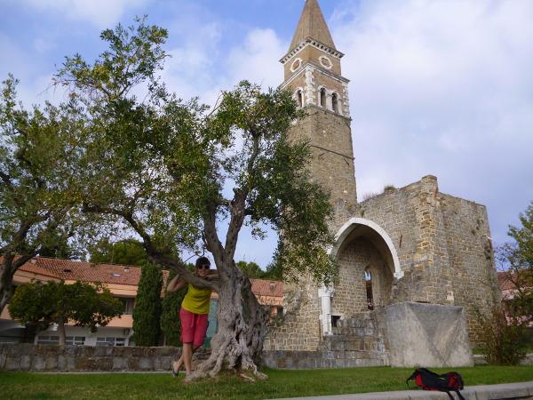 Zabytki słoweńskiej części Istrii - kościół Św. Bernardyna w Portorož.