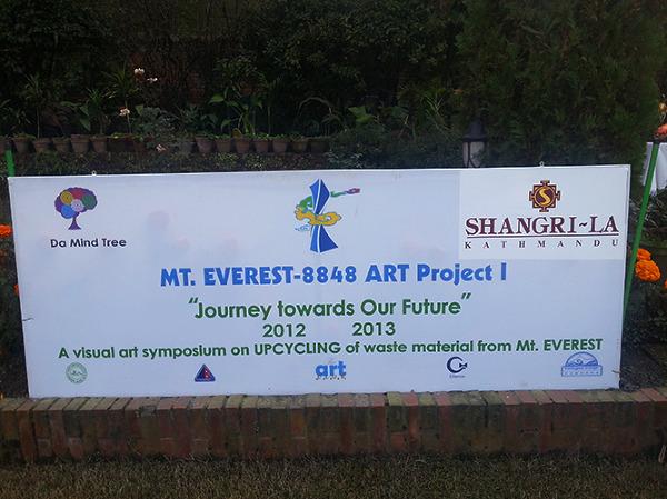 Wystawa rzeźb zrobionych ze śmieci zniesionych z Everestu, Kathmandu
